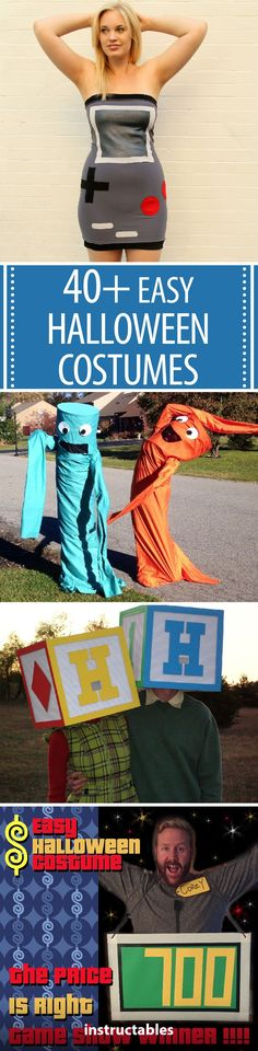 Try one of these 40+ easy ideas for an awesome last minute costume you can whip together quickly! #Halloween #cosplay #gaming