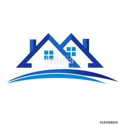 """Download the royalty-free vector """"Houses Real Estate Logo"""" designed by glopphy at the lowest price on Fotolia.com. Browse our cheap image bank online to find the perfect stock vector for your marketing projects!"""