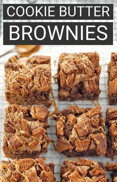 My biscoff brownies recipe is super easy and uses lotus cookie butter and chocolate chips. A must for lovers of speculoos style cookie butter and fudgy brownies, these will be a hit with adults and kids alike! #chefnotrequired #brownies #biscoff Biscoff Biscuits, Biscoff Cookie Butter, Biscoff Cookies, Best Brownies, Fudgy Brownies, Lotus Cookies, Brownies From Scratch, Aussie Food, Brownie In A Mug
