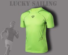 LUCKY SAILING Men Sports Compression Tops