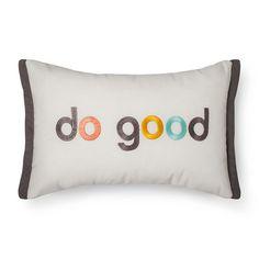 """Cream Do Good Throw Pillow (12""""x18"""") - Room Essentials™"""