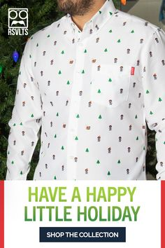 Happy holidays from the happy little trees and the happy little Bob Rosses on this happy little festive holiday oxford. Washer Crafts, Cub Scout Crafts, Happy Little Trees, Lion King Movie, Dreads Styles, Nurse Costume, Oxford Fabric, Bob Ross, Christmas Fashion