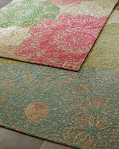 The pink and green rug would be pretty in a little girl's room.     Aubrey Runner, 2' x 8' - traditional - rugs - Horchow