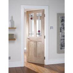 2 Light MackInternalosh Glazed Oak Internal Door - 762mm Wide at Homebase -- Be inspired  sc 1 st  Pinterest & Cottage 4-Light Oak Door | Internal Doors | Price Match Guarantee ...