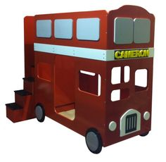 Red London Bus Bed | Kids Bunk Bed Red | London Bus Bunk Bed