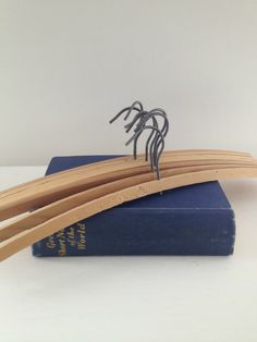 vintage collection of wooden coathangers by RosyRandom on Etsy, $9.50