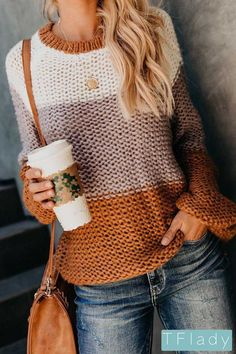 Simplee Elagant wave hollow out pink knitted women sweater Plus size long sleeve pullover Casual solid streetwear femme jumper Casual Sweaters, Winter Sweaters, Cozy Sweaters, Pullover Sweaters, Sweaters For Women, Loose Sweater, Long Sleeve Sweater, Color Block Sweater, Knitwear