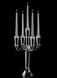 21in Tapered Rectangle Crystal Candelabra