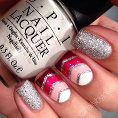 Love it but I would do straight lines and silver glitter polish between the lines too