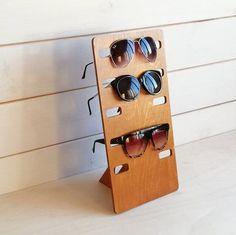 Brillenhalterung Brillenständer Brillenhalter aus Ahorn und Birnenholz