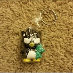 Badtz-Maru Sanrio Keychain - NWOT Brand new with wrapping Price is firm. Sale - Bundle 3 keychains together for $15. Sanrio Accessories Key & Card Holders