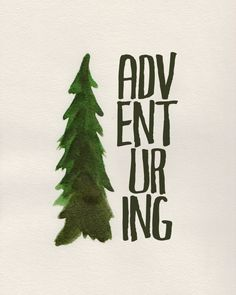 Adventuring - free watercolor printable