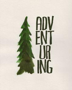 Adventuring - free watercolor printable