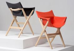 """Fionda is a minimalist design created by England-based designer Jasper Morrison. Fionda, which means """"sling"""" in Italian, was conceived due t. Deck Chairs, Eames Chairs, Side Chairs, Dining Chairs, Bag Chairs, Adirondack Chairs, Theme Design, Deco Design, Camping Furniture"""