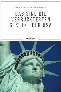 Das sind die verrücktesten Gesetze Amerikas - The Chill Report Statue Of Liberty, Traveling, Usa, Movie Posters, Movies, Law, Viajes, Liberty Statue, 2016 Movies