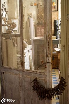"Truly stunning, from the apartment of ""Vox Populi"" designer Pascale Palun in Avignon, France. Old world beauty."