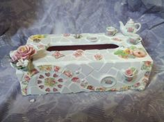 Tea Rose Tissue Box