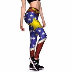 98bbb132f5 Wonder Woman Workout Fitness Leggings - Big SALE - 22.99  wonderwoman   wonderwomanlovers Plus Size