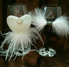 wine glass set handmade by me