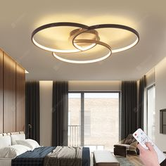 Buy Creative Styled Infinitely Dimmable Ceiling Lamp, sale ends soon. Be inspired: discover affordable quality shopping on Gearbest Mobile! Ceiling Design Living Room, Bedroom False Ceiling Design, Ceiling Light Design, Living Room Designs, Living Room Lighting Ceiling, Lights For Living Room, Modern Ceiling Design, Modern Bedroom Lighting, House Ceiling