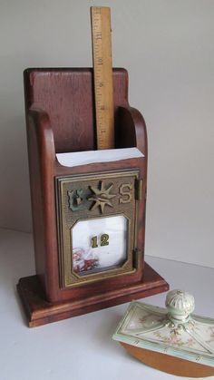 1901 Antique Post Office Mail Box Letter Holder by ReVintageLannie