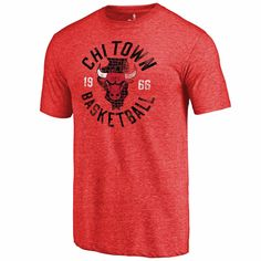 Men s Fanatics Branded Red Chicago Bulls Chi Town Hometown Tri-Blend T-Shirt  Chicago 57b87e5ce