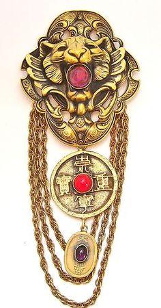Joseff of Hollywood Vintage Costume Jewelry, Vintage Costumes, Vintage Outfits, Vintage Jewelry, Famous Jewelry Designers, Victorian Fashion, Vintage Fashion, Chinese Tiger, Hollywood Jewelry