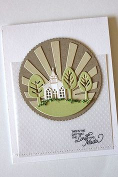 The Day The Lord Has Made Card by Heather Nichols for Papertrey Ink (February 2015)