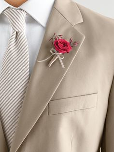 Beige/taupe suit, striped taupe tie#Neutral Wedding ... Wedding ideas for brides & bridesmaids, grooms & groomsmen, parents & planners ... https://itunes.apple.com/us/app/the-gold-wedding-planner/id498112599?ls=1=8 … plus how to organise an entire wedding, without overspending ♥ The Gold Wedding Planner iPhone App ♥