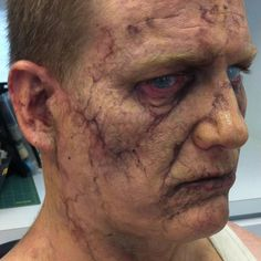 Zombie makeup on Ian Roberts as Chaz Sr. from Freaks of Nature. Transfers provided by Alterian Fx.@alterianinc ...