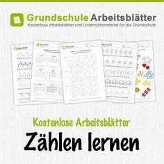 Kostenlose Arbeitsblätter und Unterrichtsmaterial zum Thema Zählen lernen im Mathe-Unterricht in der Grundschule.