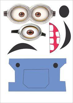 Personaliza las bolsas de papel de tu fiesta Minion para tu fiesta con esta plantilla gratis. #FiestaMinions