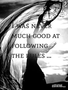 I was never much good..........