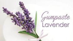 Hi and welcome back to my kitchen. It is currently lavender season in the UK and it all just looks so pretty. So for this weeks cake decorating video tutorial I am going to show you how to make realistic gumpaste / sugar lavender which is perfect. Fondant Flower Tutorial, Fondant Figures Tutorial, Fondant Flower Cake, Fondant Bow, Fondant Cakes, Buttercream Flowers, Clay Flowers, Lavender Flowers, Flower Cake Design