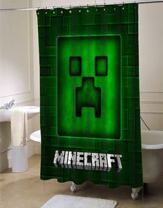 Brick Game minecraft shower curtain #showercurtain #minecraft
