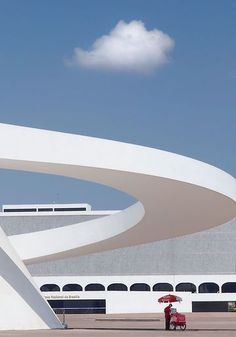 Kah tzun and Yidong National Museum in Brasilia by Oscar Niemeyer Art Et Architecture, Futuristic Architecture, Contemporary Architecture, Amazing Architecture, Architecture Details, Chinese Architecture, Contemporary Design, Oscar Niemeyer, Architecture Organique