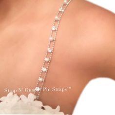 b187cc6795 STYLISH   FABULOUS Wedding Dress Straps Pearl Beads Crystal Dress Straps