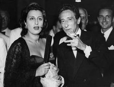 Anna Magnani and Jean Cocteau, Venice Film Festival, 1950 by BEAT NIK, via Flickr
