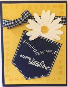 pocket full of daisy by CAR372 - Cards and Paper Crafts at Splitcoaststampers