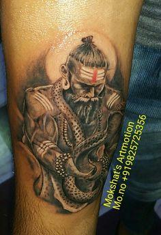 Lord shiva tattoo done by mokshat 39 s artmotion mahadev for Har har mahadev tattoo