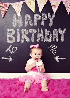 baby's first birthday photo