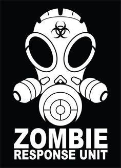 Zombie Response Unit Vinyl Decal Sticker