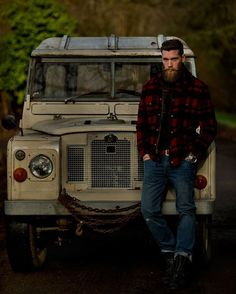 Ryan Crane - full thick beard mustache beards bearded man men mens' style clothing fashion vintage landrover defender #beardsforever