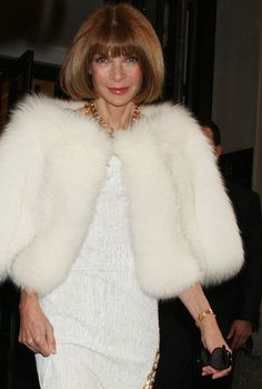 Anna Wintour! One of the most amazing women in the fashion industry