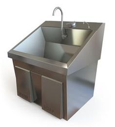 Used and refurbished Scrub Sink Model from Soma Technology. Cal Flame, Clinic Interior Design, Hospital Design, Stainless Steel Polish, Under Sink, Medical Equipment, Bbq Grill, Basin, Scrubs
