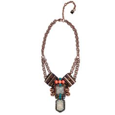 Nocturne Dante Necklace ($110) ❤ liked on Polyvore featuring jewelry, necklaces, opal, pendants & necklaces, bib jewelry, bib necklace, twist jewelry and chain pendants