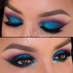 Super vibrant Jewel toned eye shadow