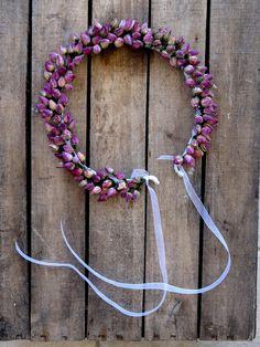 Dried Pink Rosebuds Crown  Wedding Crown  For Brides por SteliosArt, €42.00