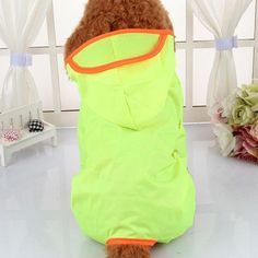 Dog Clothes for Dogs Raincoat Waterproof Overalls Goods for Pets Poncho Rain Umbrella Coats for Chihuahua L/Fluorescence Waterproof Dog Coats, Waterproof Rain Jacket, Waterproof Fabric, Dog Raincoat, Hooded Raincoat, Blue Raincoat, Yorkie Dogs, Pet Dogs