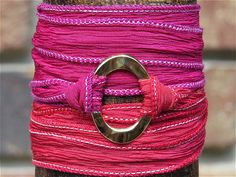 Armband Seidenarmband Wickelarmband mixed Double Art. von gedemuck, €18.00